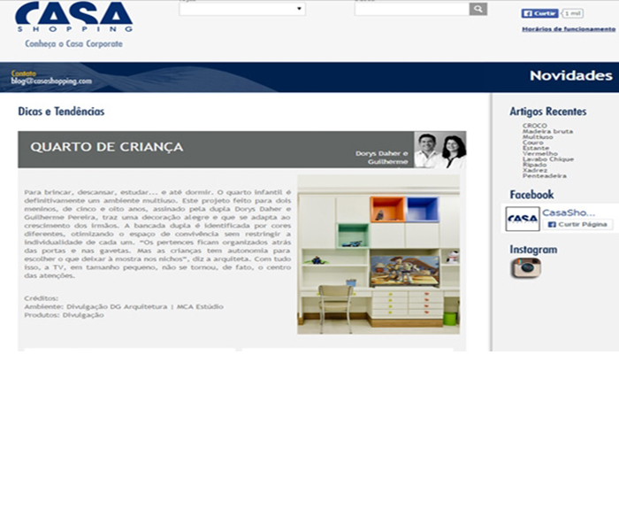 casa shopping online clippings dg arquitetura